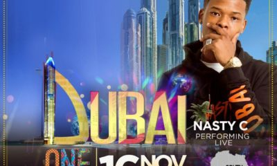 Nasty C to perform at the One Africa Music Fest in Dubai