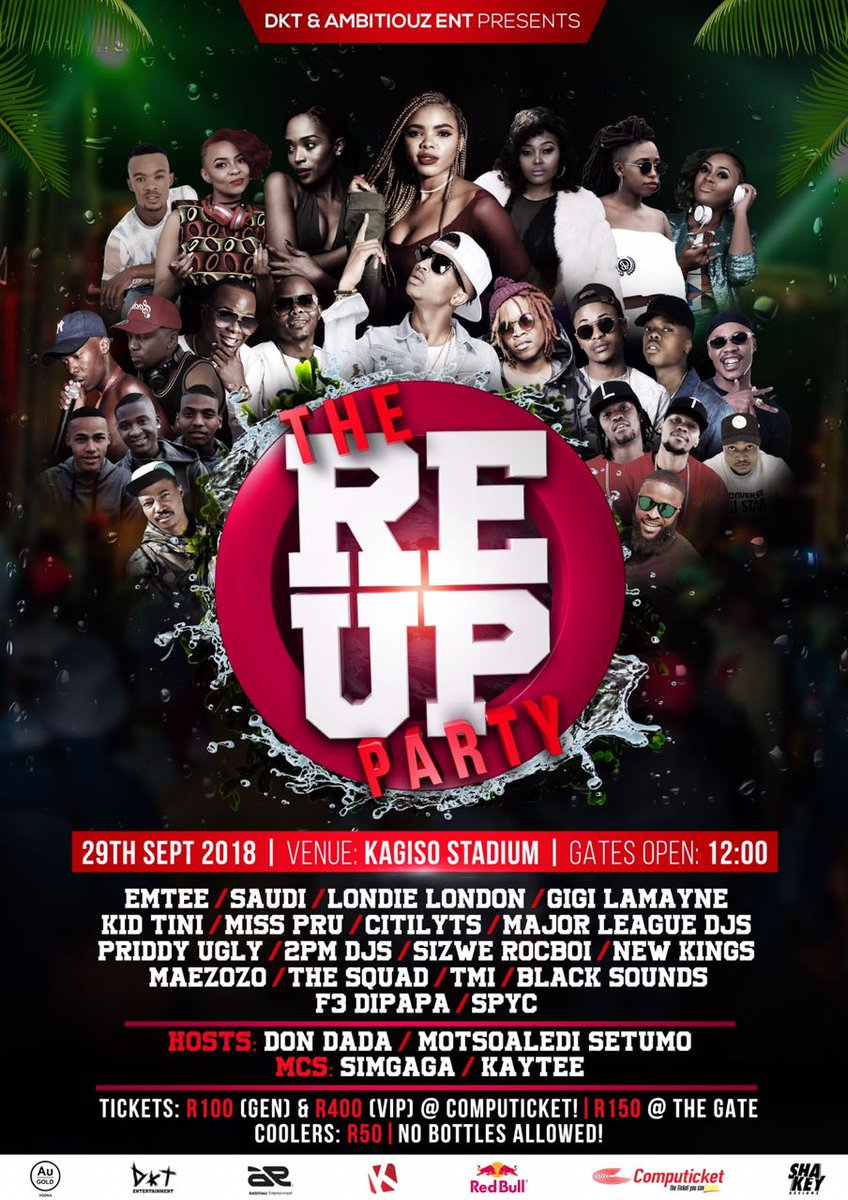 The Re-Up Party returns to Kagiso Stadium this weekend
