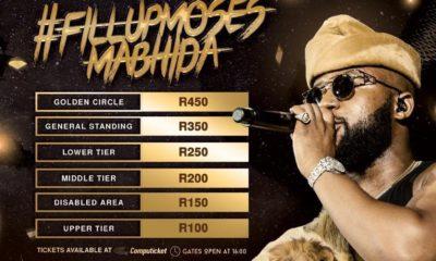 Cassper Nyovest reveals ticket pricing for #FillUpMosesMabhida