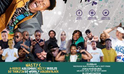 Nasty C announces the full Ivyson Tour guest artist line-up