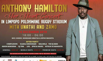 Anthony Hamilton returns to South Africa for a performance in Polokwane