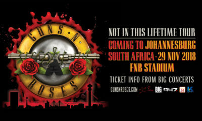 Guns 'N Roses gearing up for performance at the FNB Stadium