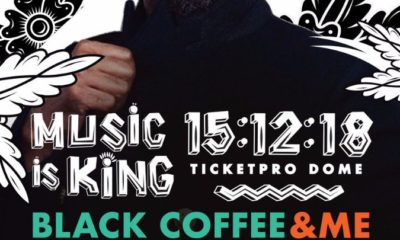 Swizz Beatz added to Black Coffee's Music Is King Concert line-up