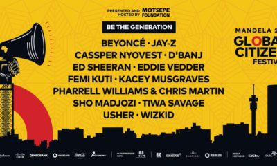 Mandela 100 Global Citizen Festival to take place this Sunday, 2 December 2018