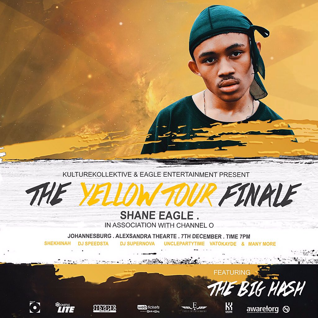 The Big Hash to join Shane Eagle's Yellow Tour finale