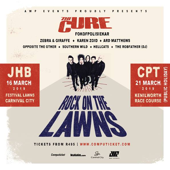 The Cure to perform in Johannesburg and Cape Town in March 2019