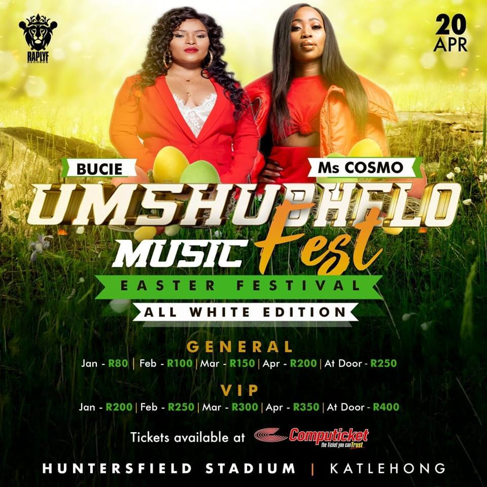 Bucie and Ms Cosmo added to Umshubhelo Fest line-up