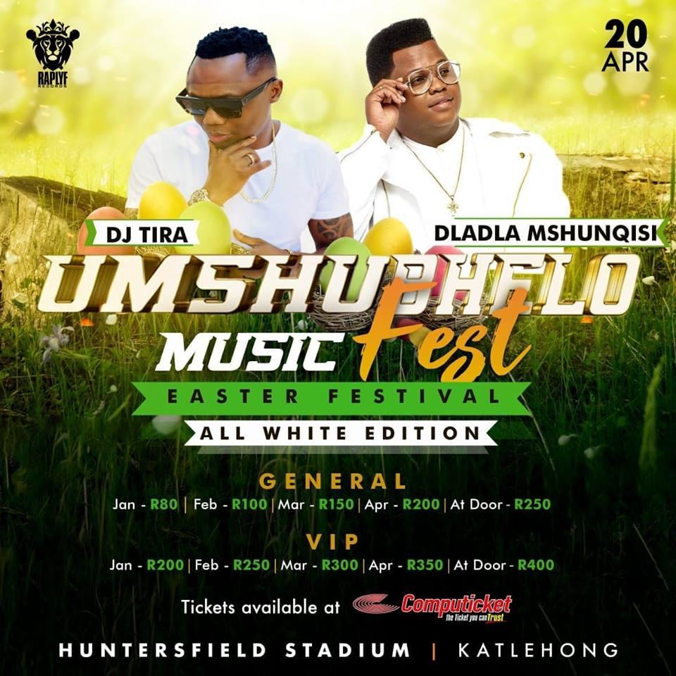 DJ Tira and Dladla Mshunqisi added to Umshubhelo Fest line-up
