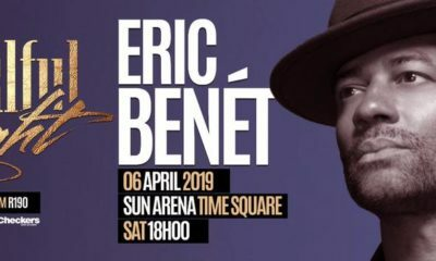 Eric Benét makes his way to South Africa in April 2019