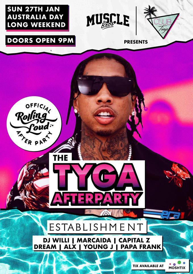 Tyga headed to Australia to perform at Club Tings