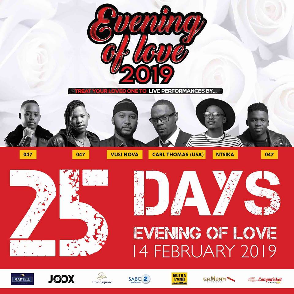 Only three weeks to go until Vusi Nova's Evening of Love