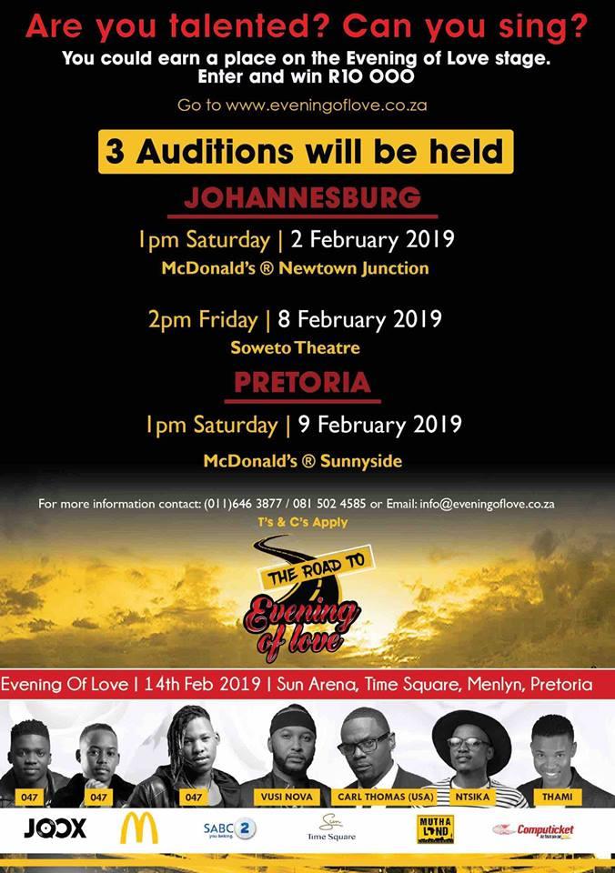 Vusi Nova announces Evening of Love singing competition