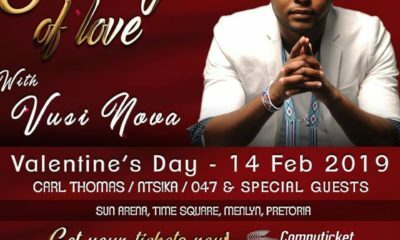 Vusi Nova expresses excitement over upcoming Evening of Love performance
