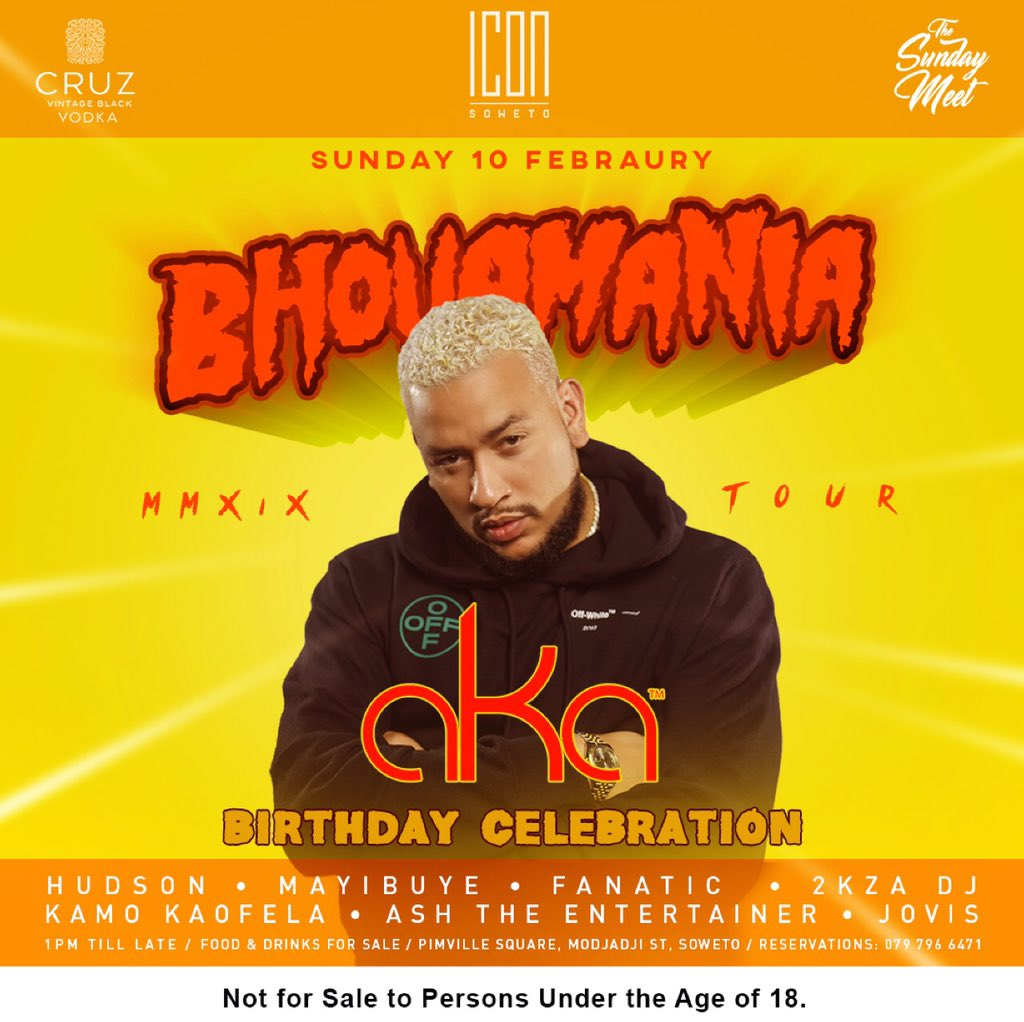 AKA's Bhovamania birthday tour heads to Icon Soweto | JustNje