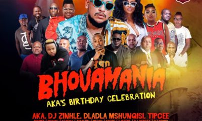 DJ Zinhle added to the line-up for AKA's Bhovamania birthday tour