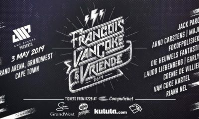 Francois Van Coke gears up for a music show in Cape Town