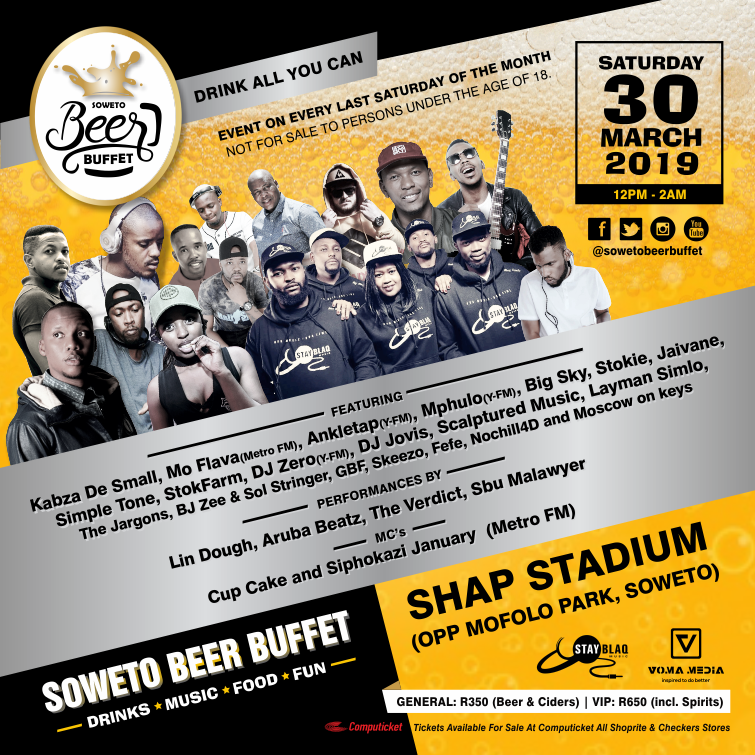 Soweto Beer Buffet Festival adds Kabza da Small to March line-up