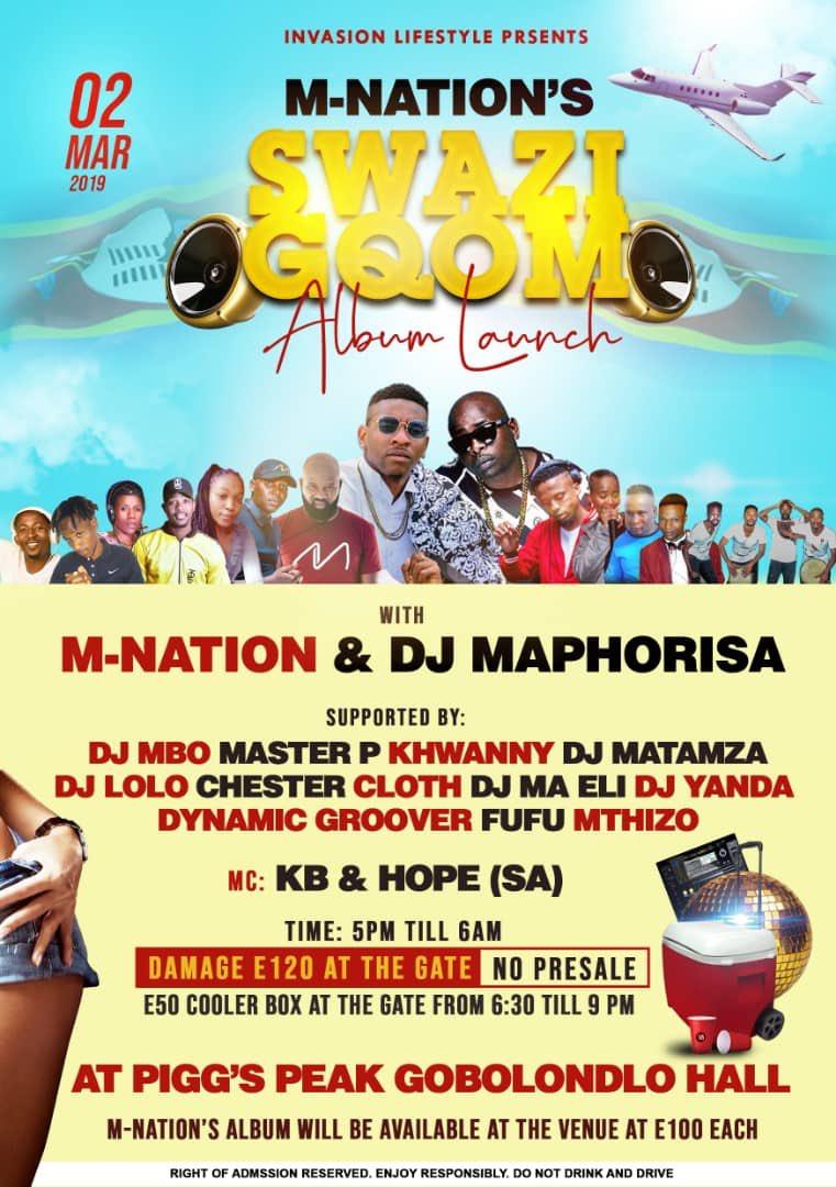 DJ Maphorisa to perform at M-Nation's Swazi Gqom Album Launch