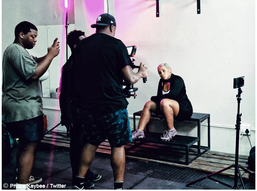 Prince Kaybee shooting a music video for Fetch Your Life