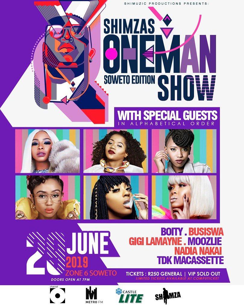 Busiswa Nadia Nakai and Boity to perform at Soweto edition of Shimza's One Man Show