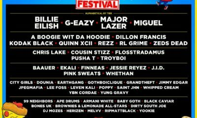 Diplo Mad Decent Block Party Festival, featuring Pusha T, Billie Eilish and G-Eazy
