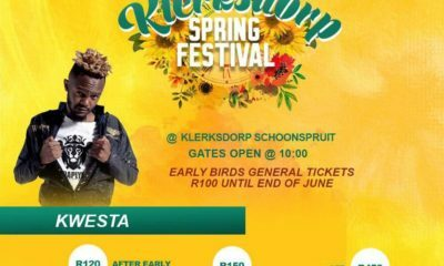 Kwesta, Sjava and Prince Kaybee to headline Klerksdorp Spring Festival