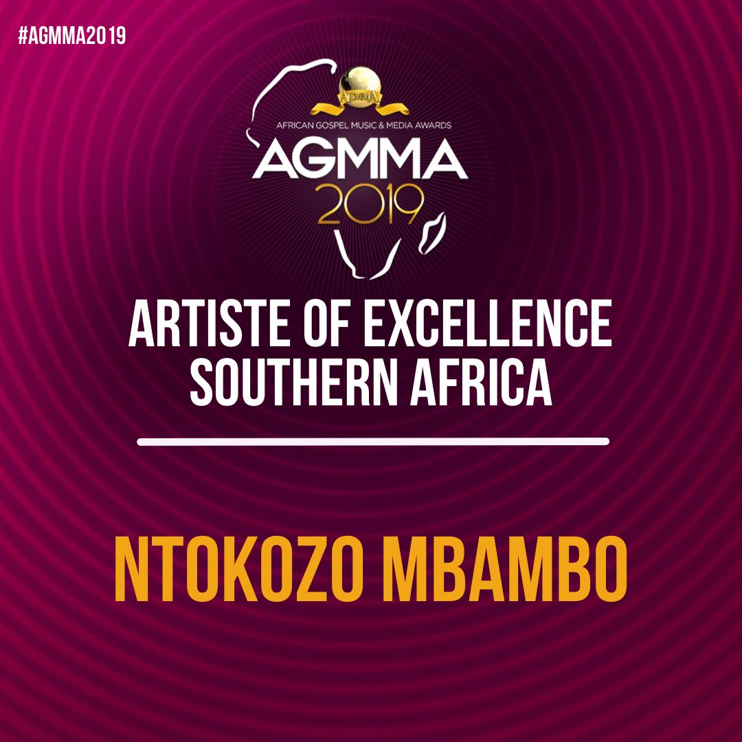 Ntokozo Mbambo 2019 African Gospel Music and Media Awards