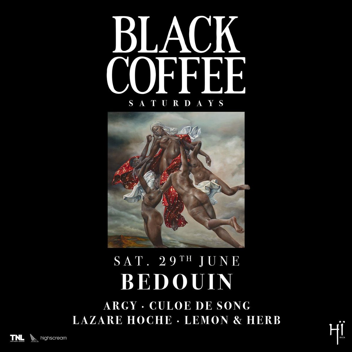 Black Coffee Saturdays in Ibiza