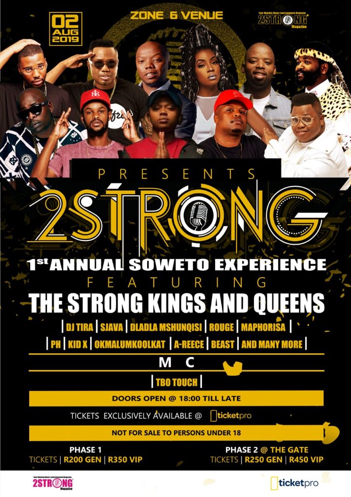 DJ Tira announces first edition of the 2 Strong Annual Soweto Experience