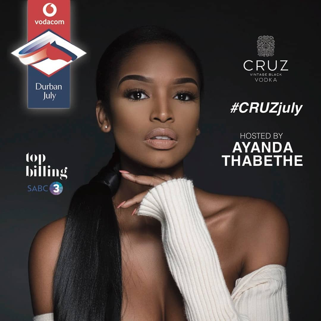 Ayanda Thabethe to provide live coverage of 2019 Vodacom Durban July