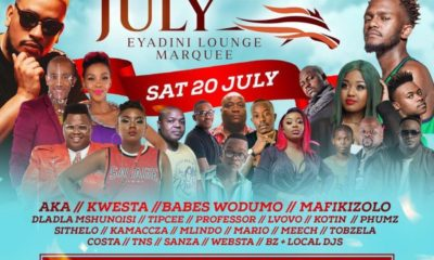 AKA and Kwesta headline Eyadini Lounge Marquee at the Dundee July