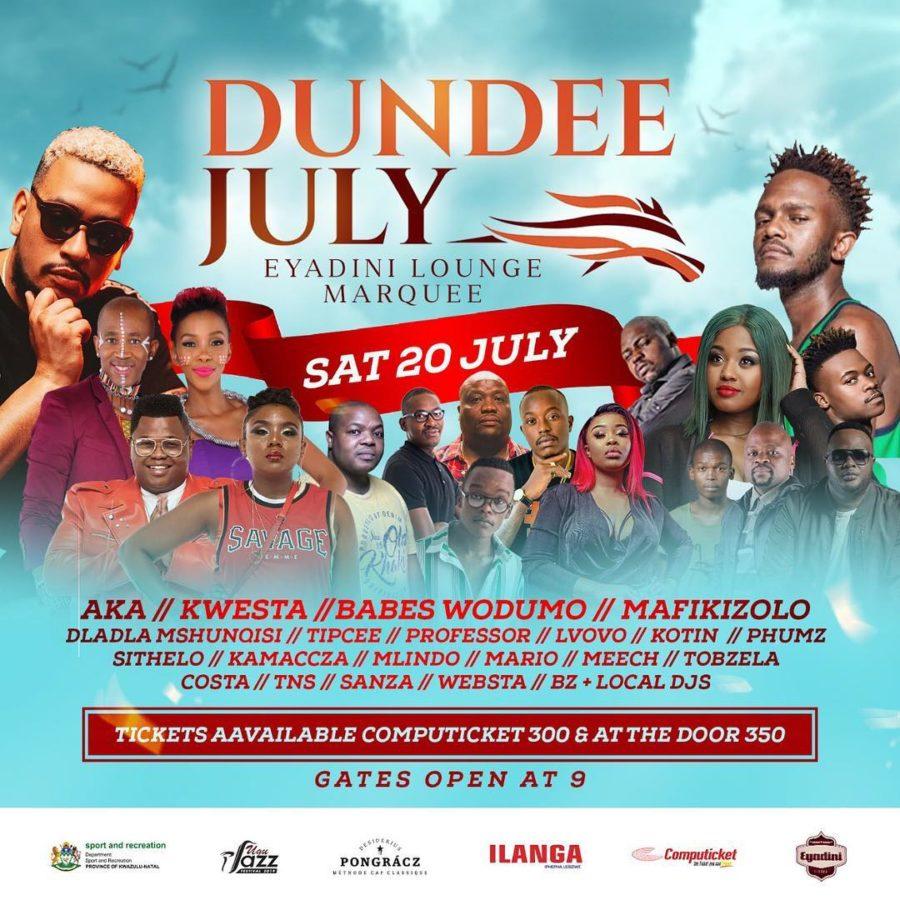 AKA and Kwesta headline Eyadini Lounge Marquee at the Dundee July