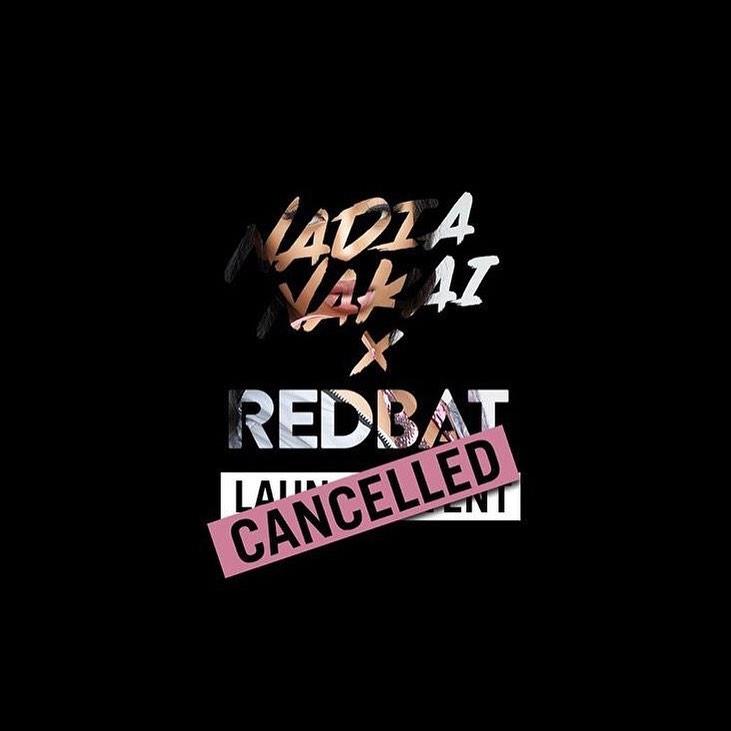 Nadia Nakai announces cancellation of Nadia Nakai x Redbat launch event