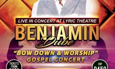 Benjamin Dube headlines the Bow Down And Worship concert