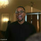 Maps Maponyane wears blue suit to birthday celebration, matching his father, Marks Maponyane's outfit