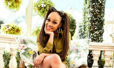 Thando Thabethe humorously engages with Twitter user claiming ownership of her dinner plate image