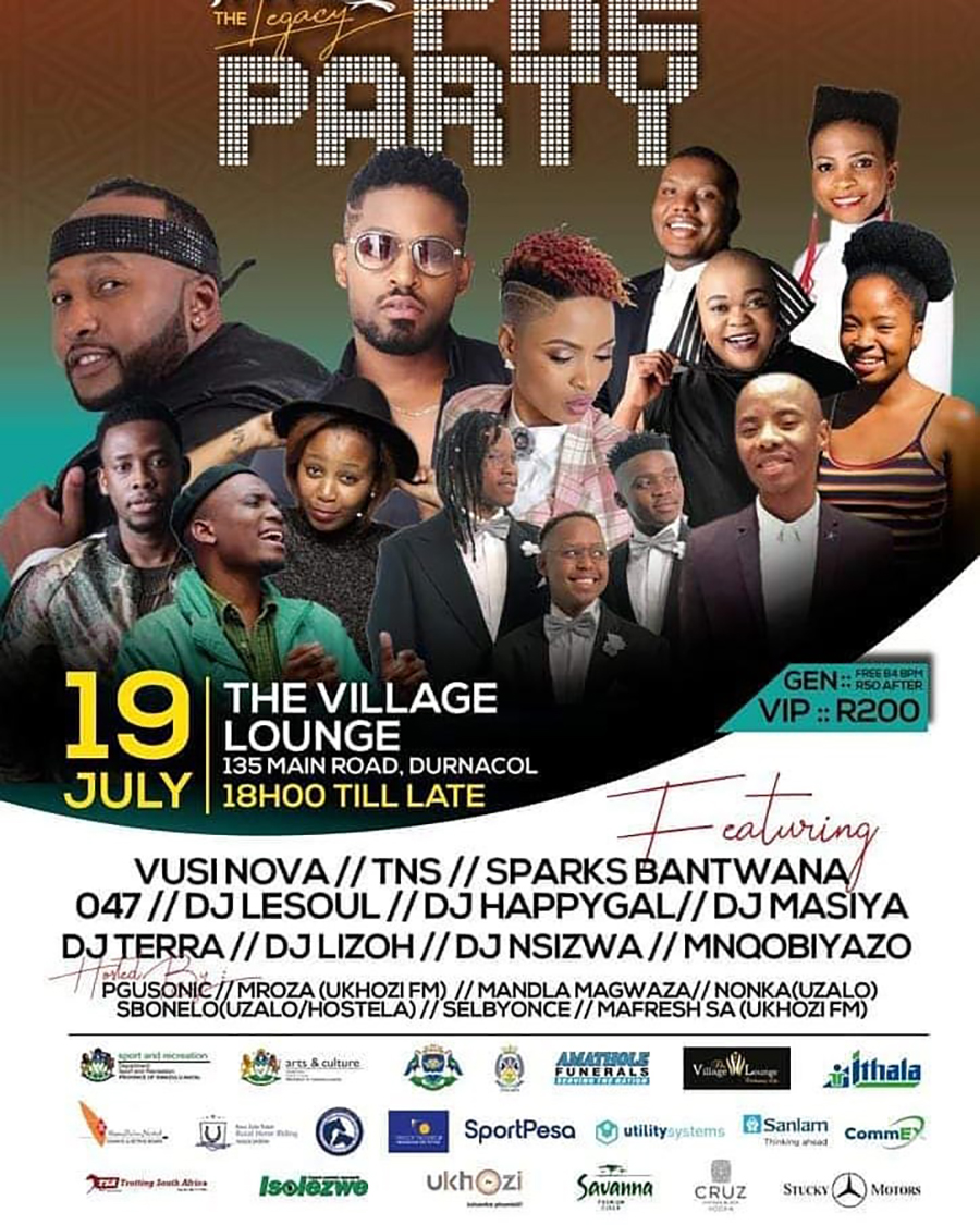 Vusi Nova headlines Dundee July The Legacy Pre-Party