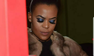 Zodwa Wabantu shows off her damaged Steve Madden shoe collection