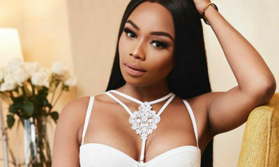 Bonang Matheba wears bohemian-inspired ensemble while shooting in California