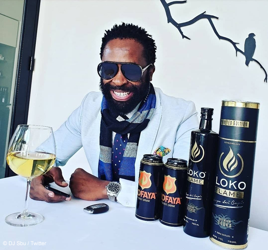 DJ Sbu promotes his energy drink, Mofaya, through a random act of kindness