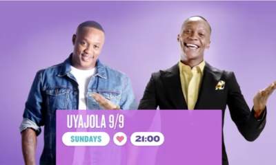Uyajola 9/9: Hosts, Jub Jub and Moss Makwati, reunite for the series finale