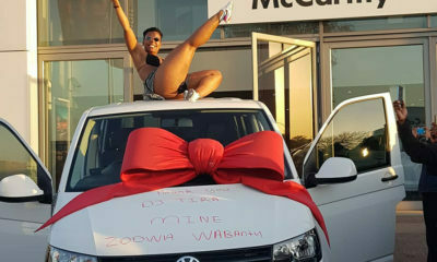Zodwa Wabantu celebrates getting a brand new car