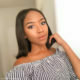 Blue Mbombo shows off make-up look by Beezglam