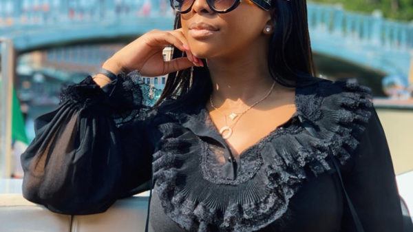 Boity Thulo wears various designer items while in Spain