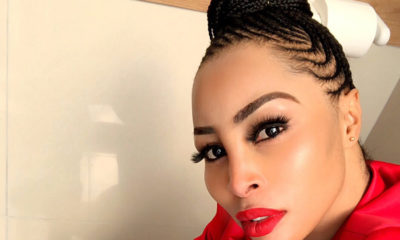 Khanyi Mbau shares video in a sheer corset-style red dress