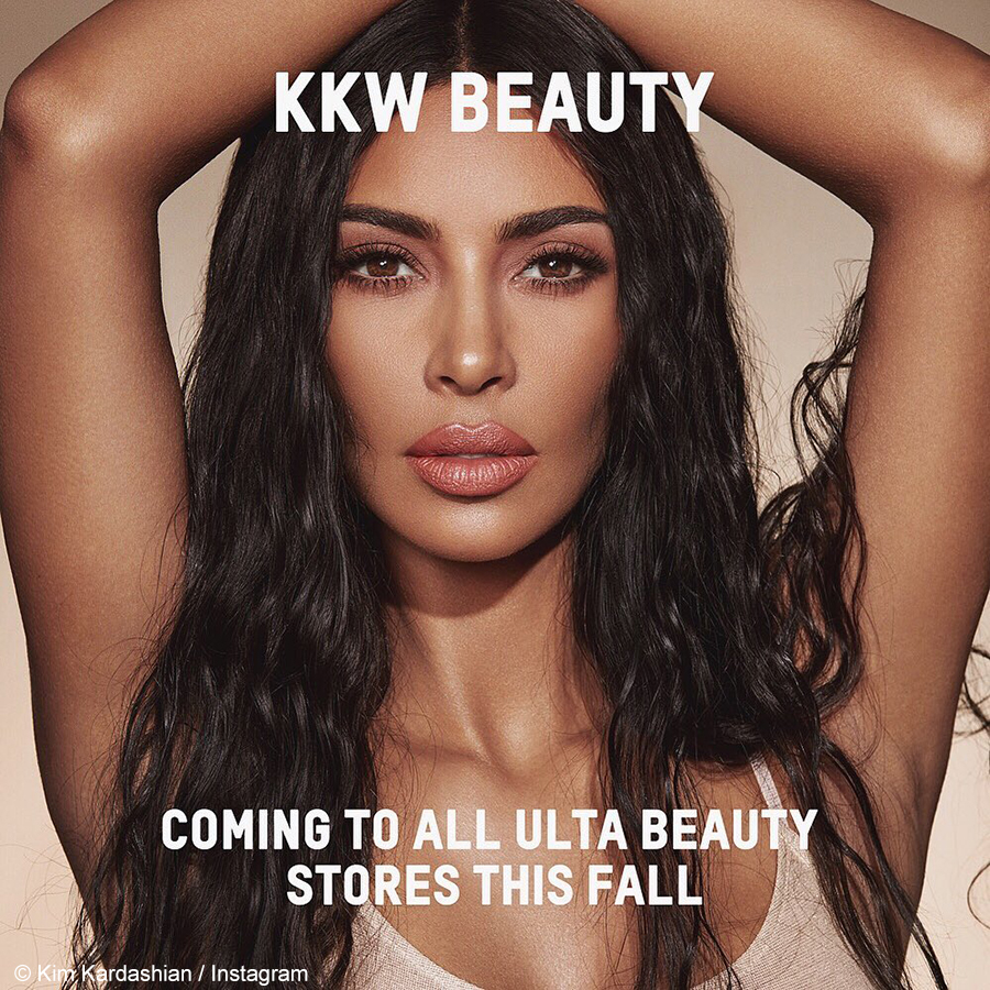 Kim Kardashian West announces that her KKW brand will be available at Ulta Beauty