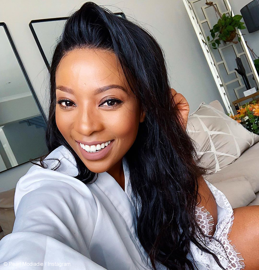 Pearl Modiadie showcases her take on the classic little black dress