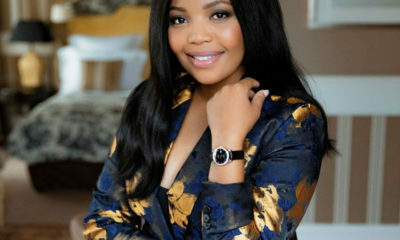 Terry Pheto shares an image of the latest style in the Longines watch range