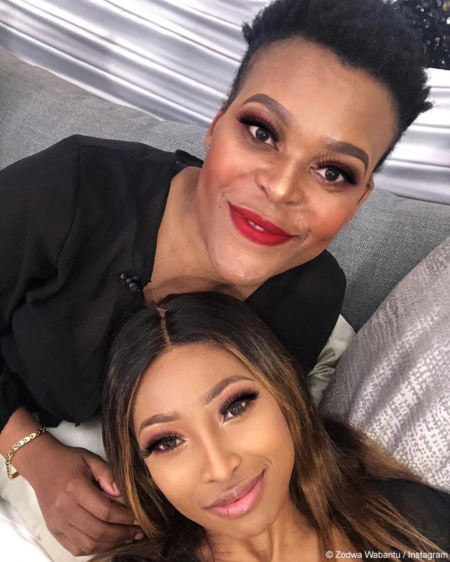 Zodwa Wabantu and Enhle Mbali