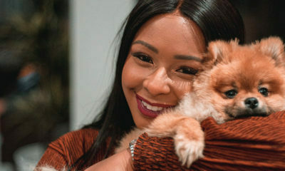 Boity Thulo shares more images with her Pomeranian dog, Asante